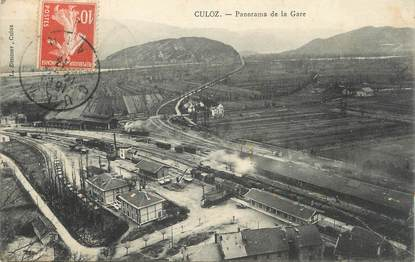 "/ CPA FRANCE 01 ""Culoz, panorama de la gare"""
