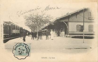 """/ CPA FRANCE 01 """"Culoz, la gare"""""""