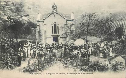 """/ CPA FRANCE 01 """"Cerdon, chapelle de Préau, pélérinage le 8 septembre"""""""