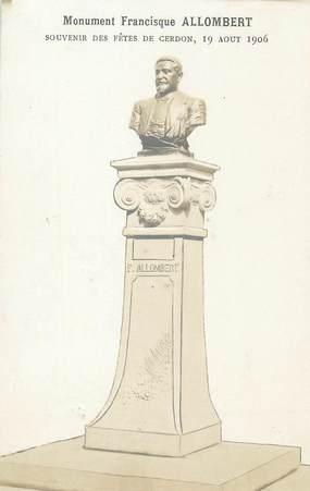 """/ CARTE PHOTO FRANCE 01 """"Cerdon, monument Francisque Allombert"""""""