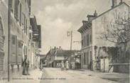 """01 Ain / CPA FRANCE 01 """"Divonne Les Bains, rue principale et postes"""""""