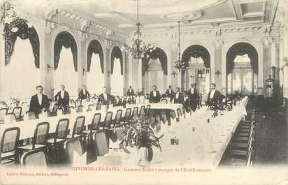 """/ CPA FRANCE 01 """"Divonne Les Bains, grandes salles à manger de l'établissement"""""""