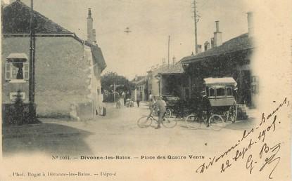 """/ CPA FRANCE 01 """"Divonne Les Bains, place des quatre vents"""""""