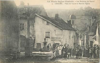 """CPA FRANCE  70 """"Chariez, place du centre et rue de l'Eglise"""""""