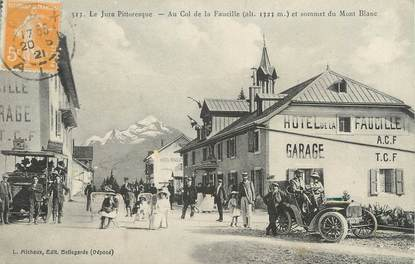 """/ CPA FRANCE 01 """"Au col de la Faucille et somment du Mont Blanc"""""""