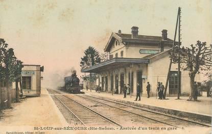 """CPA FRANCE  70 """"Saint Loup sur Sémouse, train en gare"""""""