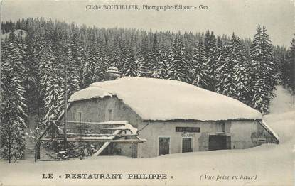 """/ CPA FRANCE 01 """"Gex, le restaurant Philippe"""""""