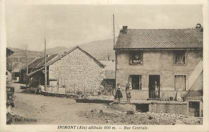 """/ CPA FRANCE 01 """"Inimont, rue centrale"""""""