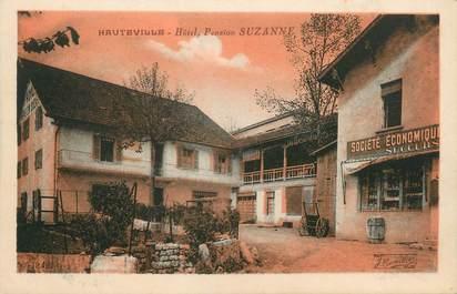 """/ CPA FRANCE 01 """"Hauteville, hôtel pension Suzanne"""""""