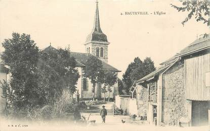 """/ CPA FRANCE 01 """"Hauteville, l'église"""""""