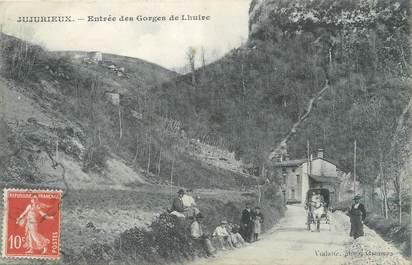 """/ CPA FRANCE 01 """"Jujurieux, entrée des gorges de Lhuire"""""""