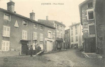 "/ CPA FRANCE 01 ""Jujurieux, place d'armes"""