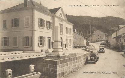 "/ CPA FRANCE 01 ""Lalleyriat, mairie, école, poste"""
