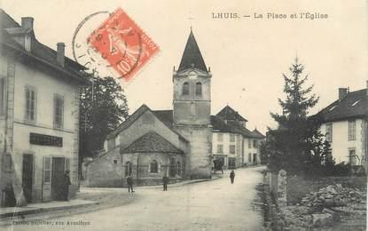 """/ CPA FRANCE 01 """"Lhuis, la place et l'église"""""""