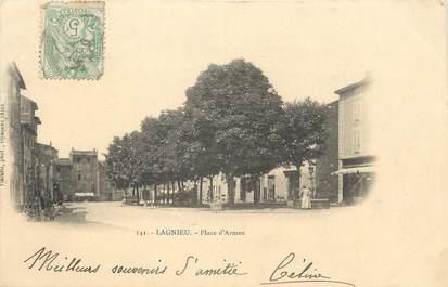 """/ CPA FRANCE 01 """"Lagnieu, place d'Armes"""""""