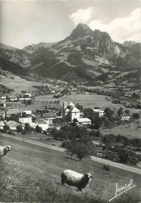 """/ CPSM FRANCE 74 """"Bernex, le village et la dent d'Oche"""""""