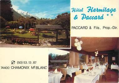"/ CPSM FRANCE 74 ""Chamonix, hôtel Hermitage et Paccard"""