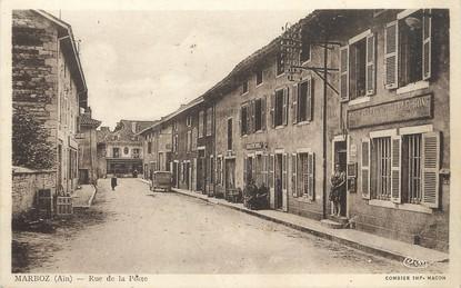 """/ CPA FRANCE 01 """"Marboz, rue de la poste"""""""