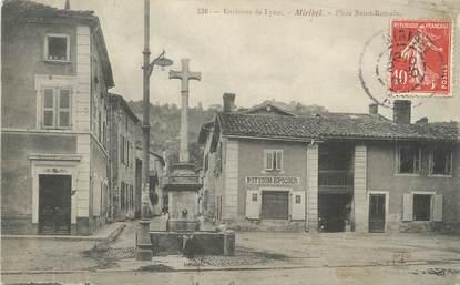 "/ CPA FRANCE 01 ""Miribel, place Saint Romain"""