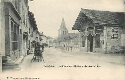 """/ CPA FRANCE 01 """"Mézériat, la place de l'église et la grand'rue"""""""