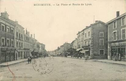 """/ CPA FRANCE 01 """"Meximieux, la place et route de Lyon"""""""