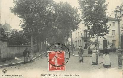 "/ CPA FRANCE 01 ""Montluel, l'avenue de la gare"""
