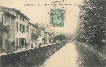 """/ CPA FRANCE 01 """"Montluel, les remparts et la Sereine"""""""