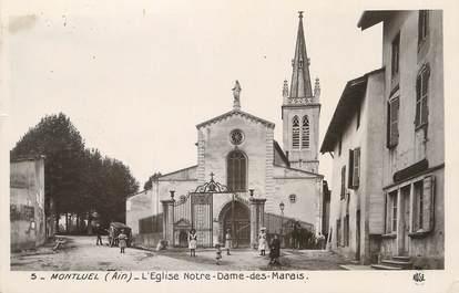 """/ CPSM FRANCE 01 """"Montluel, l'église Notre Dame des Marais"""""""