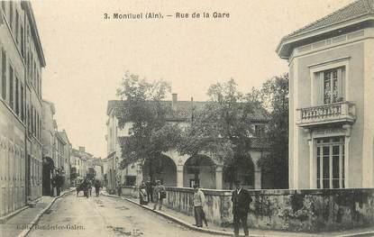 """/ CPA FRANCE 01 """"Montluel, rue de la gare"""""""