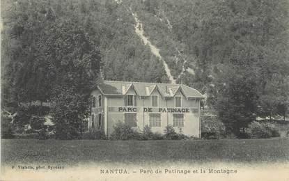 """/ CPA FRANCE 01 """"Nantua, parc de patinage et la montagne"""""""