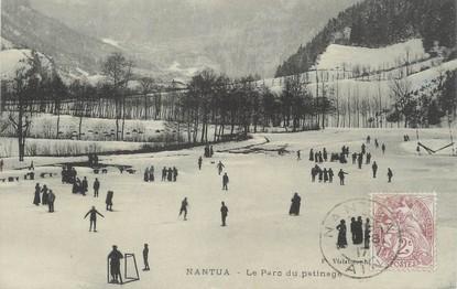 """/ CPA FRANCE 01 """"Nantua, le parc du patinage"""""""