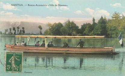 "/ CPA FRANCE 01 ""Nantua, bateau automobile, ville de Nantua"" / CANOT AUTOMOBILE"