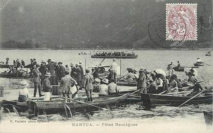 "/ CPA FRANCE 01 ""Nantua, fêtes nautiques"""