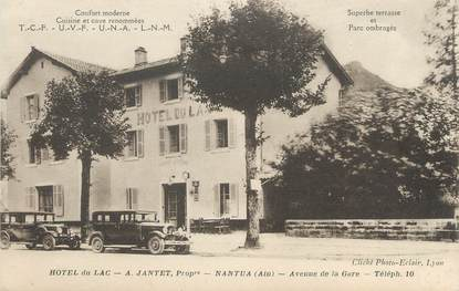 "/ CPA FRANCE 01 ""Nantua, hôtel du Lac """