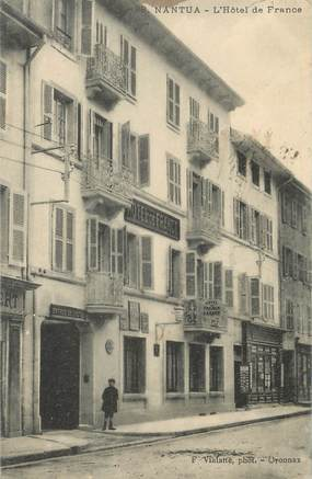 "/ CPA FRANCE 01 ""Nantua, l'hôtel de France"""