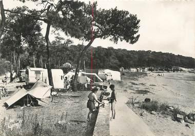 """/ CPSM FRANCE 85 """"Noirmoutier, le champ des campeurs dans les pins"""""""
