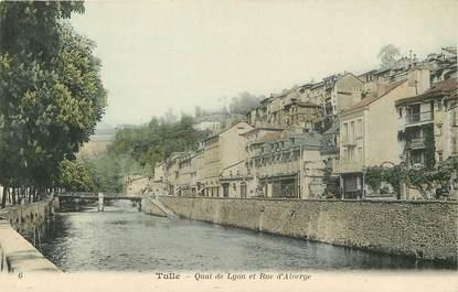 """CPA FRANCE 19 """"Tulle, Quai de Lyon et rue d'Alverge"""""""