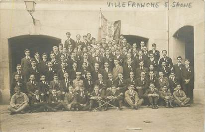 "CARTE PHOTO  FRANCE 69 ""Villefranche""  / 1918"