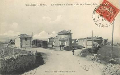 """CPA FRANCE 69 """"Theizé, la gare du chemin de fer"""""""