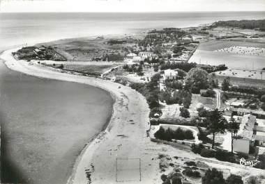 """/ CPSM FRANCE 85 """"Saint Vincent sur Jard, la plage et la pointe de Bel Esbat"""""""