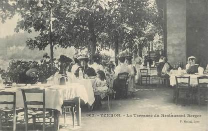 "CPA FRANCE 69 ""Yzeron, la Terrasse du Restaurant Berger"