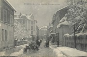 """01 Ain / CPA FRANCE 01 """"Oyonnax, la grande rue en hiver"""""""