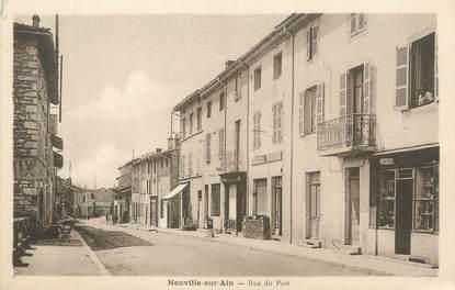 """/ CPA FRANCE 01 """"Neuville sur Ain, rue du port"""""""