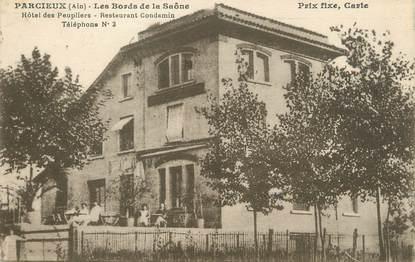"""/ CPA FRANCE 01 """"Parcieux, les bords de la Saône, hôtel des Peupliers"""""""