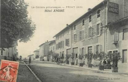 "/ CPA FRANCE 01 ""Priay, hôtel André"""