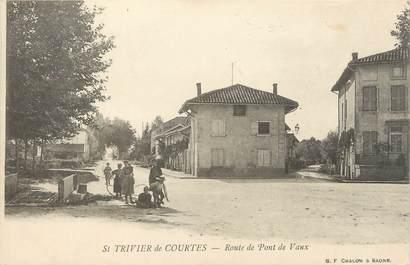 """/ CPA FRANCE 01 """"Saint Trivier de Courtes, route de Pont de Vaux"""""""
