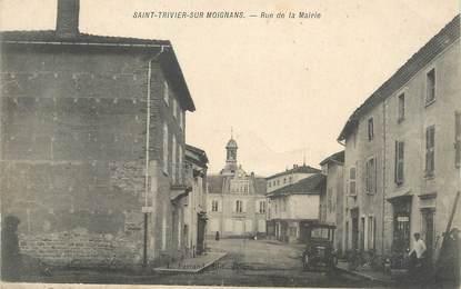 """/ CPA FRANCE 01 """"Saint Trivier sur Moignans, rue de la mairie"""""""