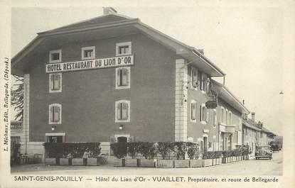 """/ CPA FRANCE 01 """"Saint Genis Pouilly, hôtel du Lion d'Or"""""""