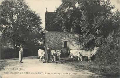"""/ CPA FRANCE 01 """"Saint Martin du Mont, chapelle de l'Orme"""""""