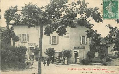 """/ CPA FRANCE 01 """"Saint Didier de Formans, maison Ranc"""""""